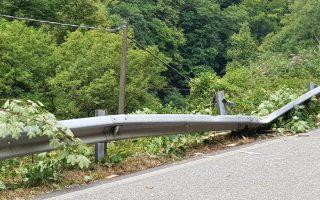 strada con guardrail RCA
