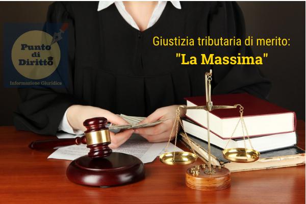 Massima Giustizia Tributaria