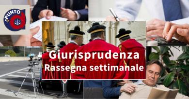 Rassegna di giurisprudenza settimanale 41/2021